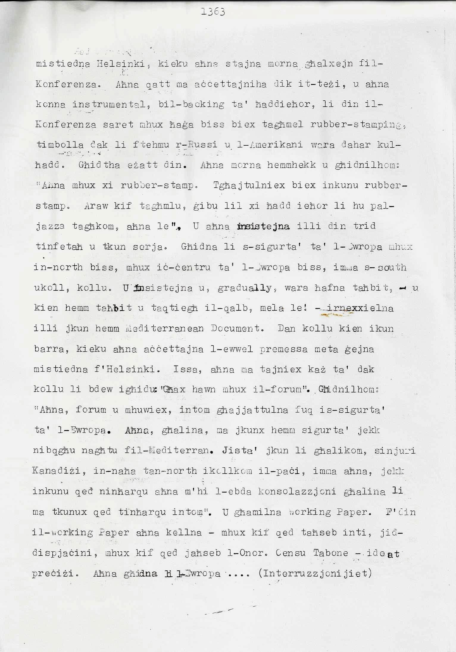 11. Dom Mintoff Parlament 15-7-1975