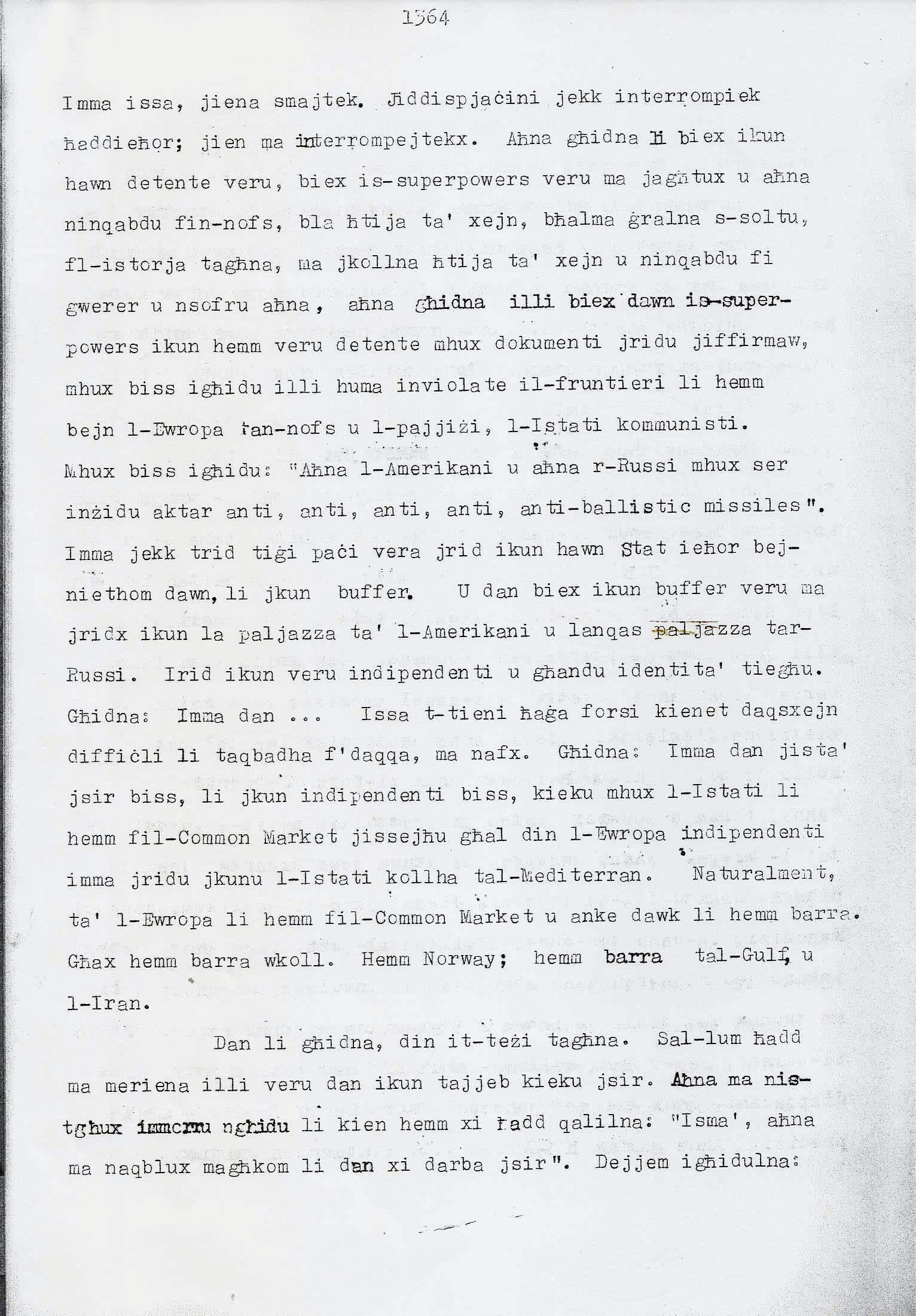 12. Dom Mintoff Parlament 15-7-1975