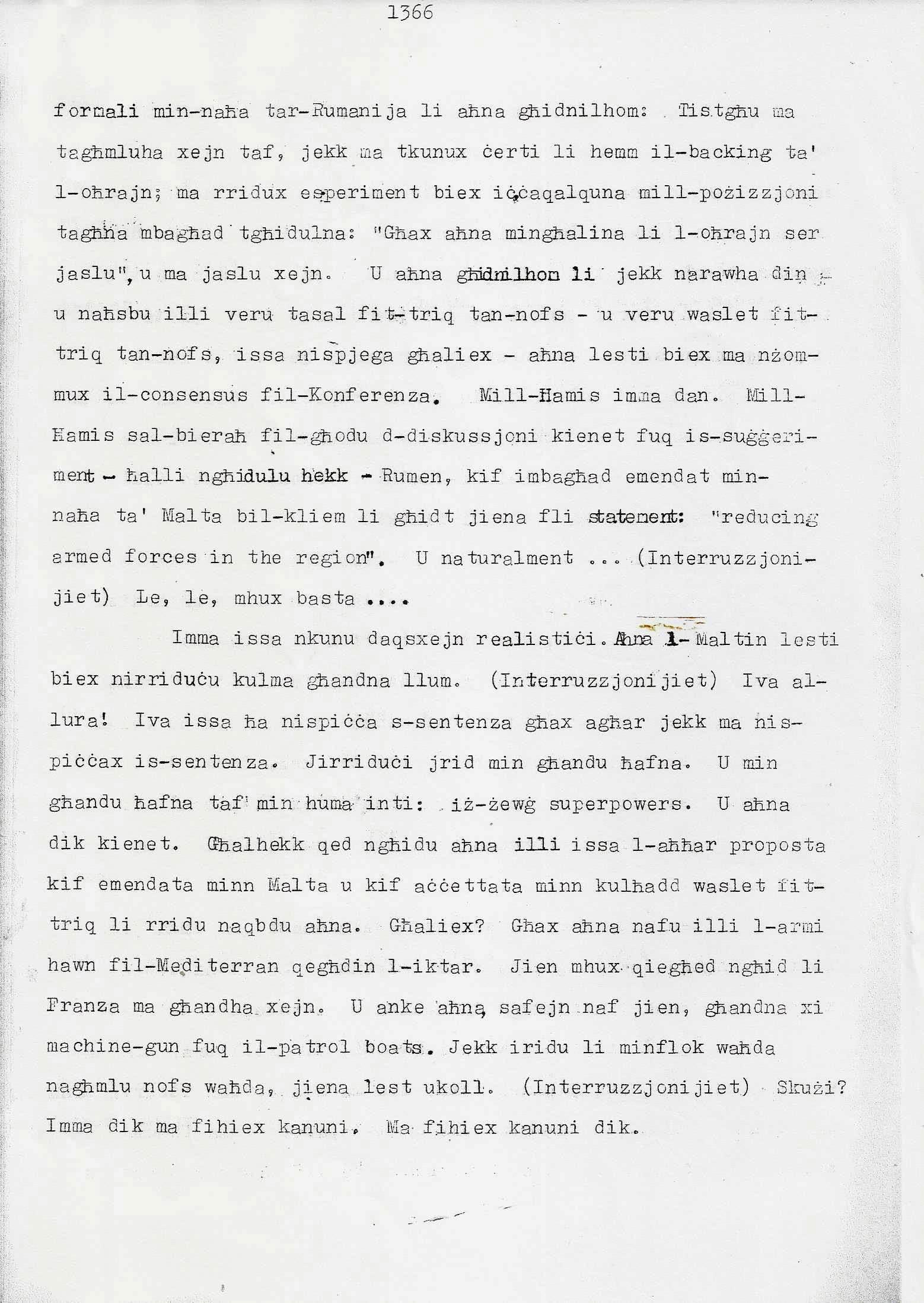 14. Dom Mintoff Parlament 15-7-1975
