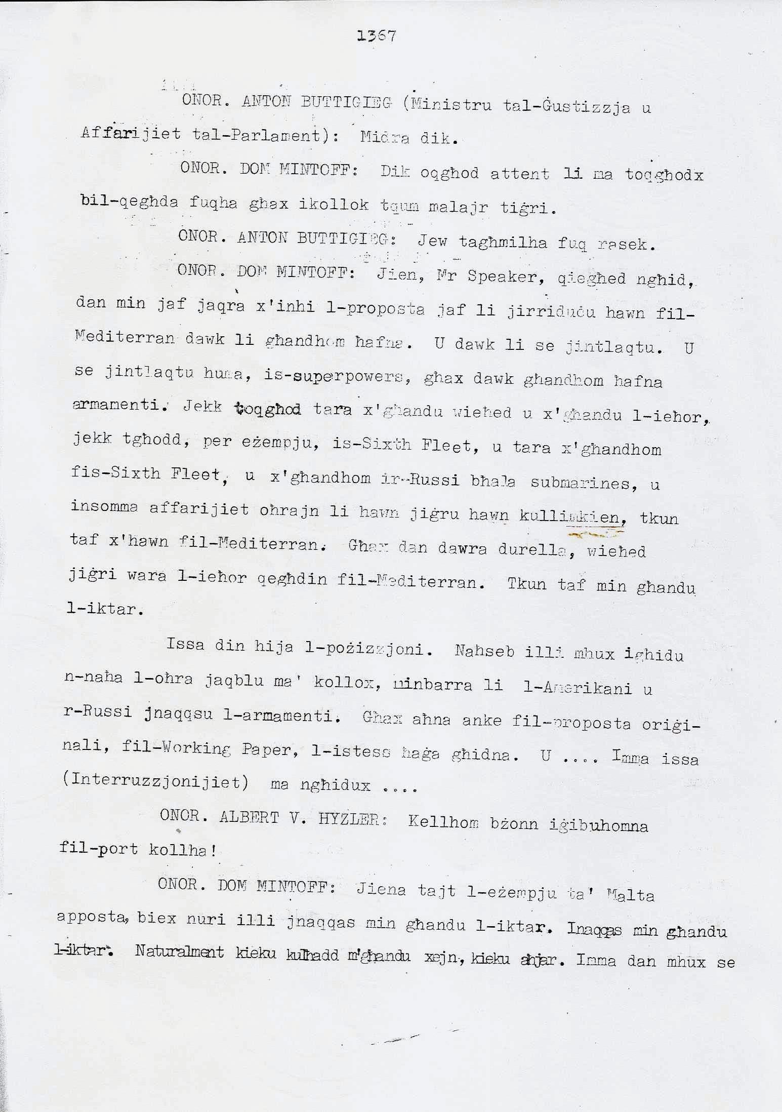 15. Dom Mintoff Parlament 15-7-1975