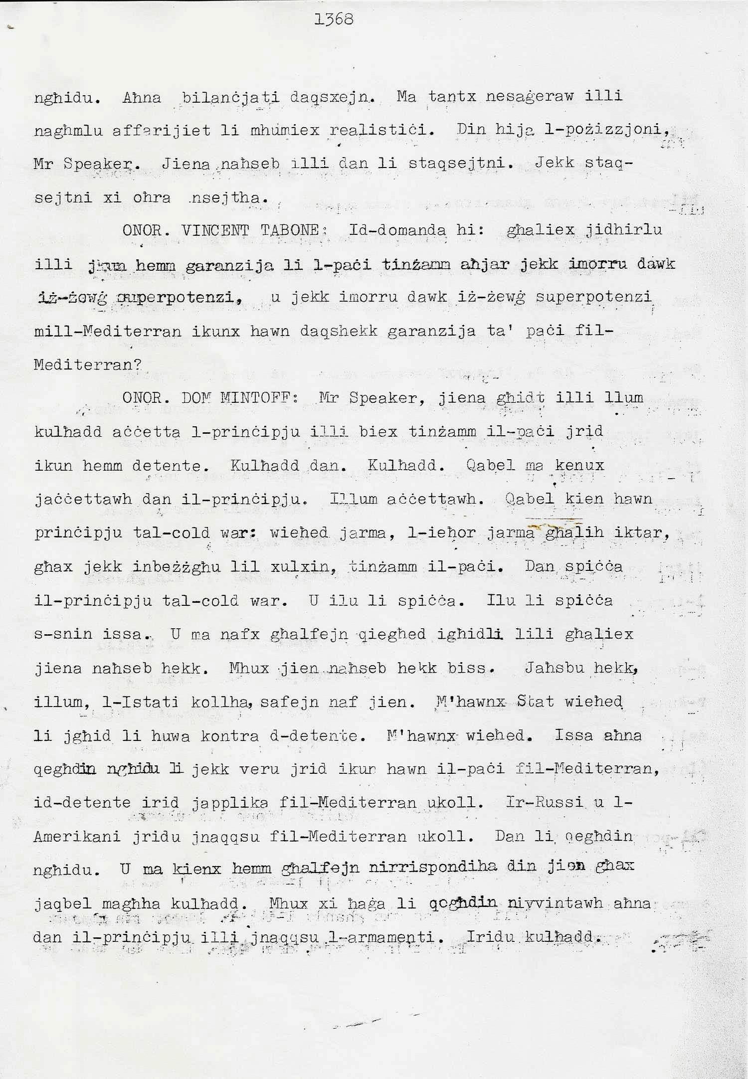 16. Dom Mintoff Parlament 15-7-1975