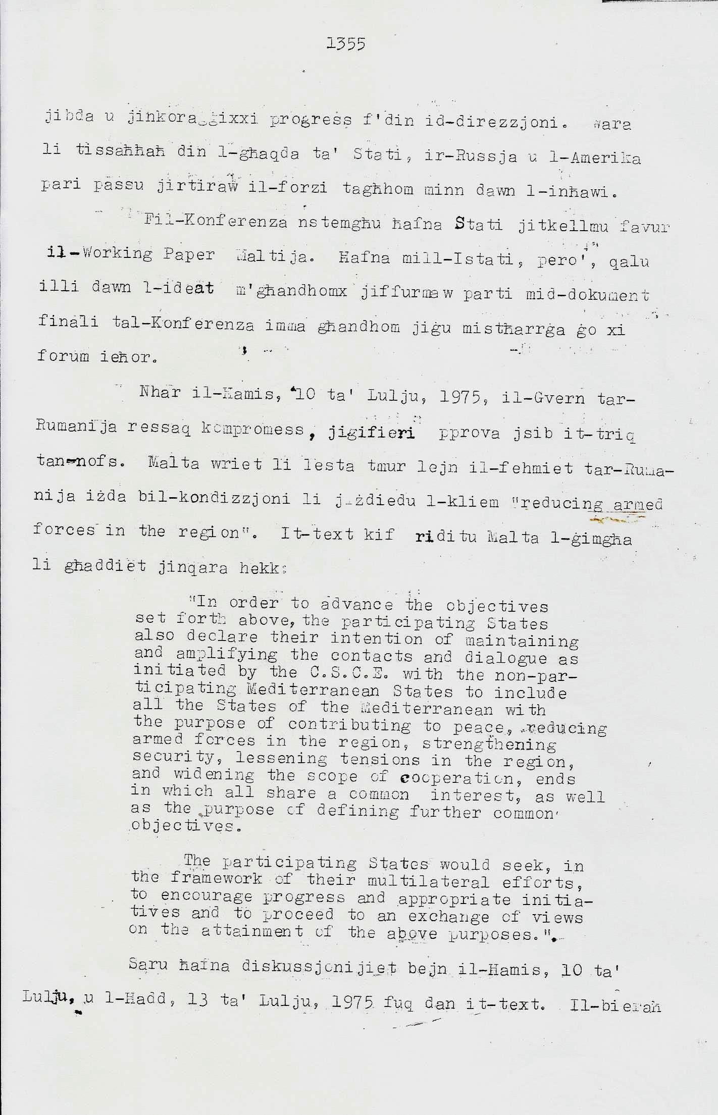 3. Dom Mintoff Parlament 15-7-1975