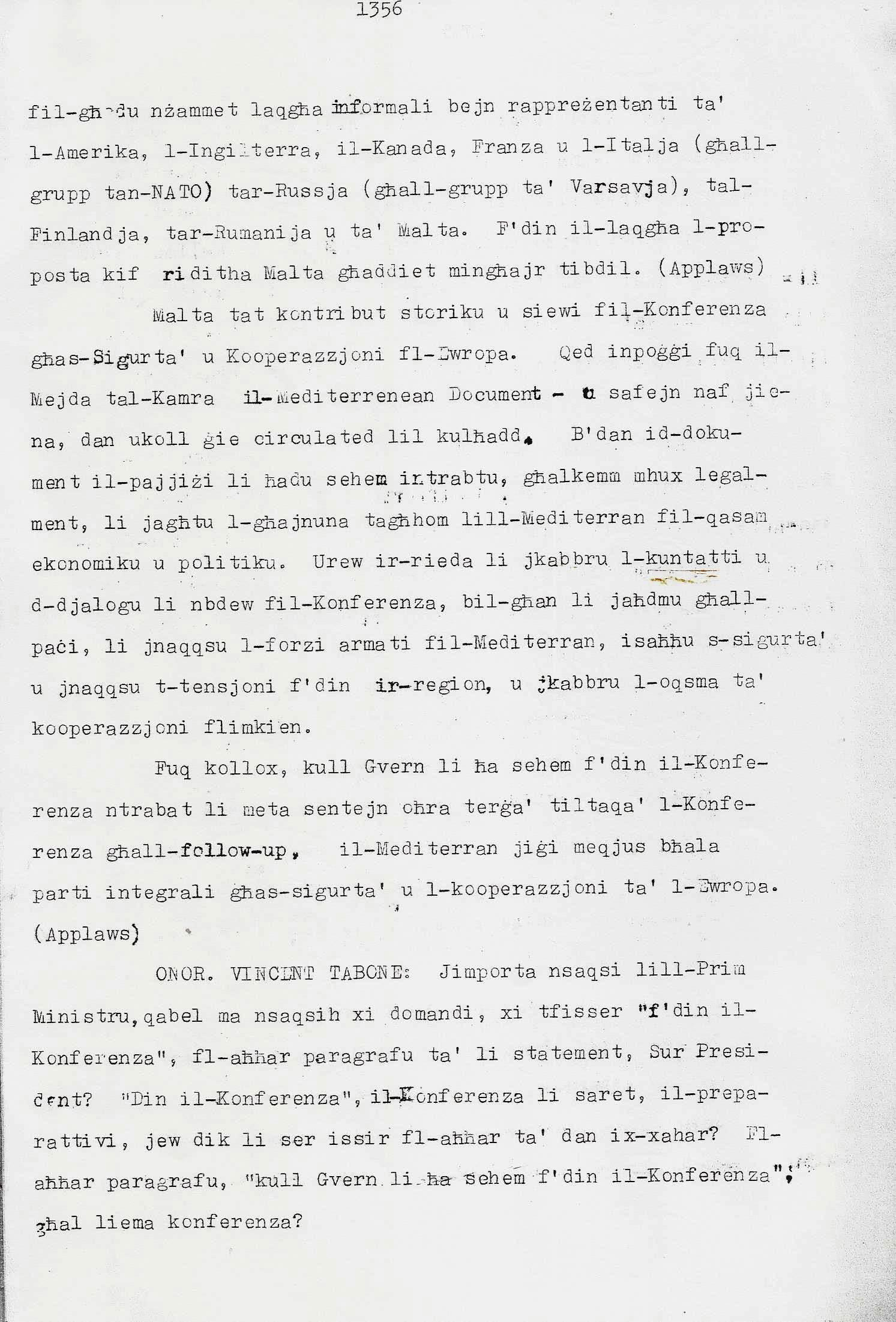 4. Dom Mintoff Parlament 15-7-1975