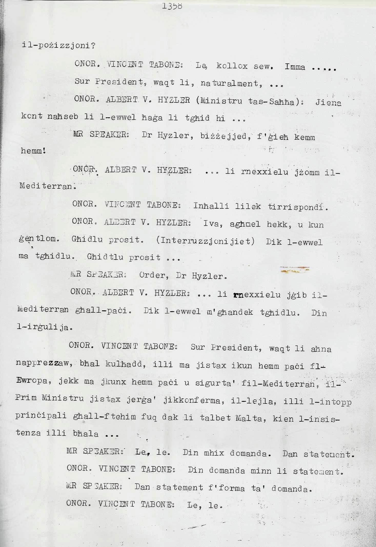 6. Dom Mintoff Parlament 15-7-1975
