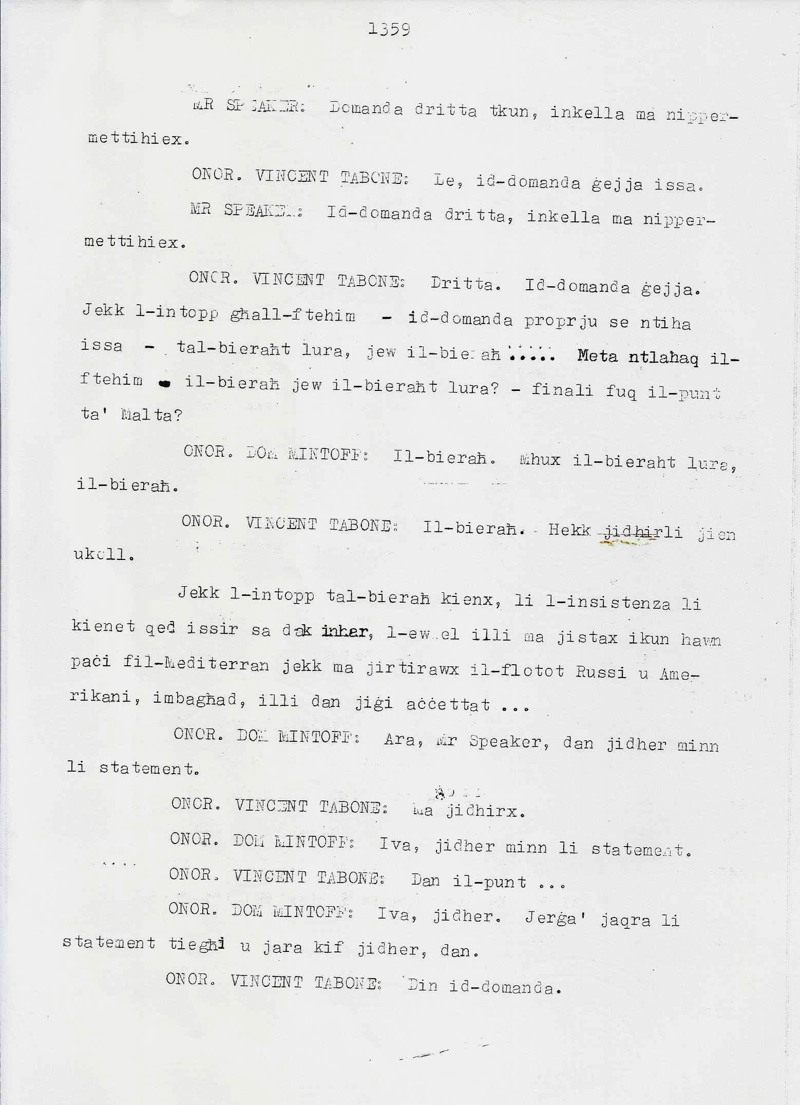 7. Dom Mintoff Parlament 15-7-1975